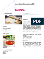 Recetario de Panadería Artesanal II burrera