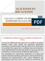 Instalaciones en Edificaciones, Diseño de Redes Agua Fria1(1)