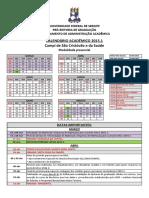 Calendario Academico 2015-1 Sc-hu