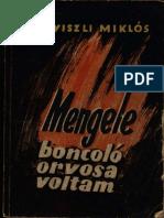 Dr. Nyiszli Miklós Mengele Boncoló Orvosa Voltam 1946 Csökkentett Méretű