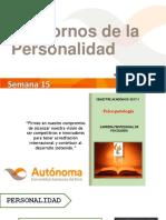 Semana 15 - Teorias de La Personalidad