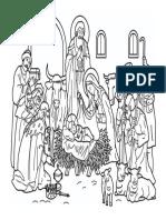 Nacimiento Jesus Dibujo