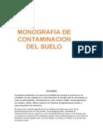 Monografia de Contaminación del Suelo