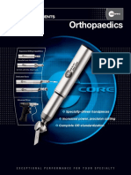 Specs for Stryker Core Ortho