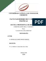 Escuelas Del Derecho - Monografia