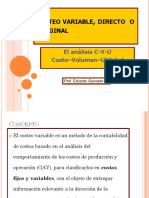 5.- Costeo Variable. Análisis CVU (1)