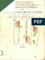 Historia y Crítica de La Literatura Española - Francisco Rico