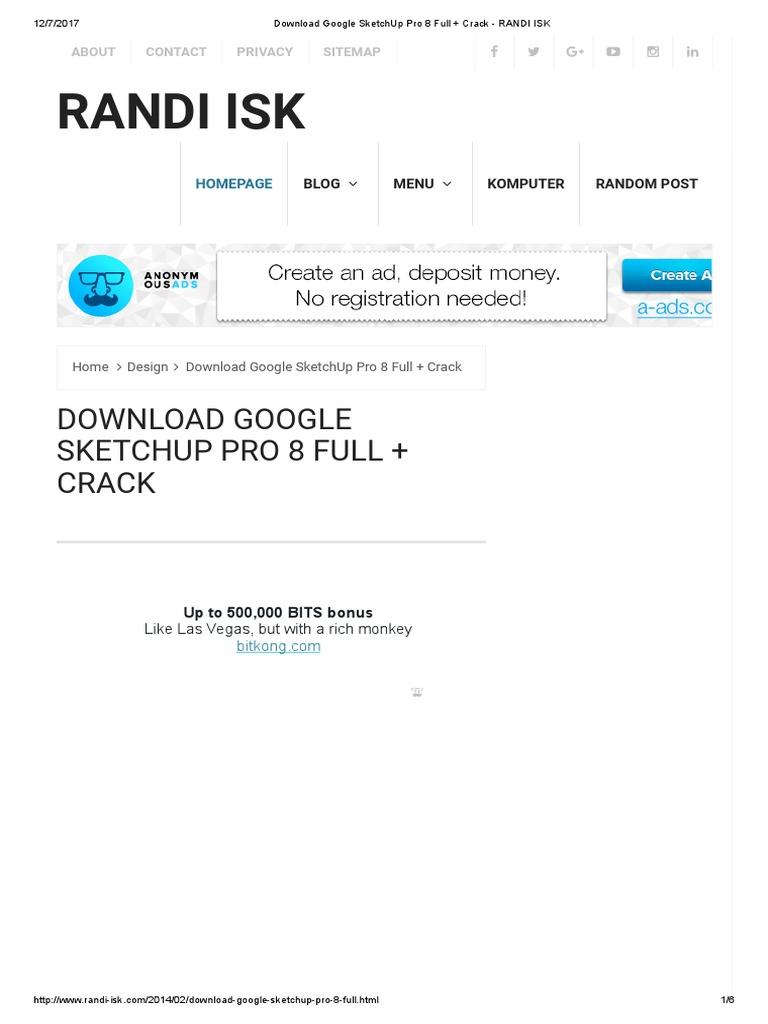 sketchup pro 2017 crack free download 64 bit