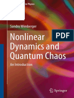 Sandro Wimberger Auth. Nonlinear Dynamics and Quantum Chaos an Introduction
