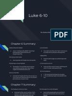 gospel  luke 6-10  1
