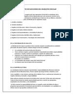 Reglamento de Elecciones Del Municipio Escolar