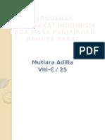 Perubahan Masyarakat Indonesia Pada Masa Penjajahan Bangsa Barat