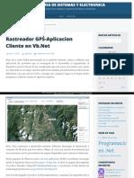 Rastreador Gps Aplicacion Cliente en Vb Net