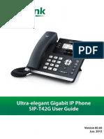 User Guide Yealink SIP-T42G V80_60 (Eng)