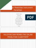 Kelompok 4 (Validitas Dan Reabilitas Instrument Penelitian)