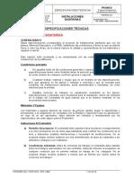 Especificaciones Tecnicas - Inst. Sanitarias