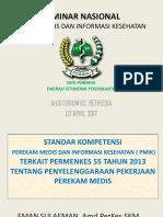 02_standar Kompetensi Pmik Terkait Permenkes 55 Tahun 2013