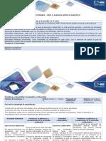 Guía de Actividades y Rúbrica de Evaluación - Fase 3. Analisis Químico Analitico