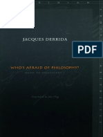 Derrida, Jacques - Who's Afraid of Philosophy (Stanford, 2002)