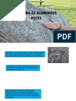 Melting of Aluminous Rocks