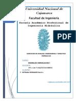 SIMILITUD HIDRÁULICA  EJERCICIOS