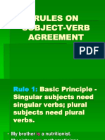 Rules on Subject-Verb Agreement (5)