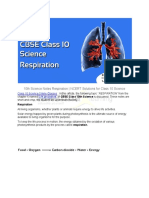 10th Science Notes Respiration NCERT Solutions for Class 10 Science