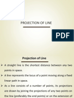 projection of line