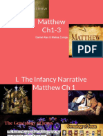 matthew  ch 1-3