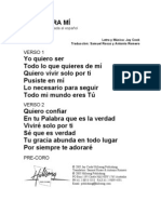 ONLY ONE FOR ME - Spanish Official Translation