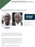 Ghana News - Abu Ramadan III – Clarification Ruling & Orders & the EC