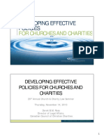 Developing Effective Policies for Churches Charities