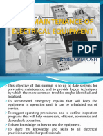 Maintenance of Electrical Equipment Electrician RME