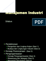 Silabus Manajemen Industri