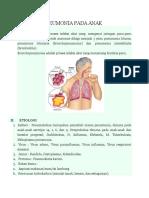 Bronchopneumonia Pada Anak