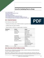 Cavitation Drop Curve