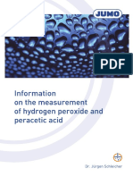 Measurement of Hydrogen Peroxide and Peracetic Acid