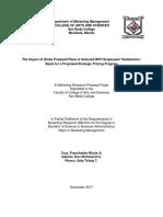 Strategic Pricing Program Research Paper for Philippines' Globe Telecom