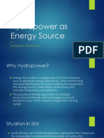 Hydropower as Energy Source