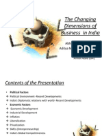 Changing Dimensions of Business in India