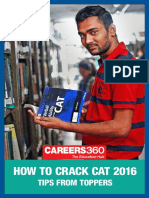 How to Crack CAT 2016- Tips From Toppers