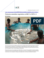 Fisheries Subsidies Negotiation at MC11 of WTO -II
