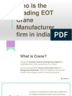 Who is the Leading EOT Crane Manufacturer firm in India?