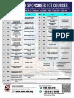 Ict Schedule 2017 - April