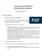 Guia Para La Documentacion de Proyectos de Software