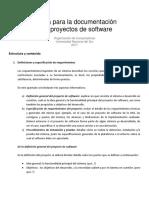 Guia Para La Documentacion de Proyectos de Software