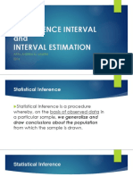 Week 8a - Interval Estimation