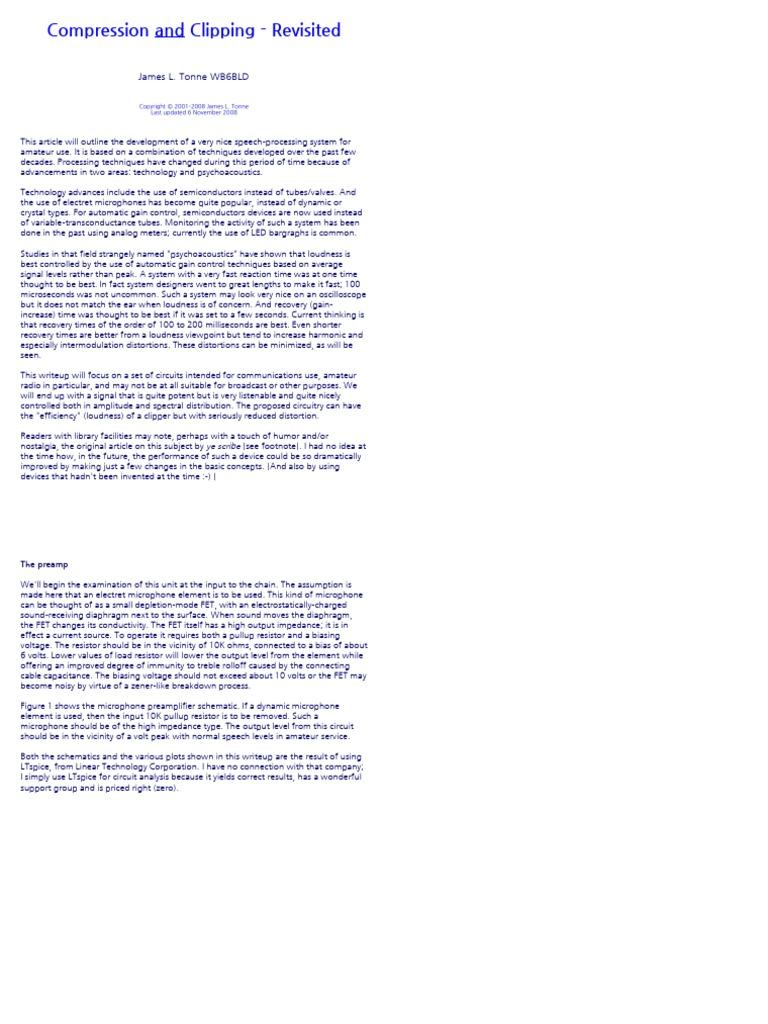 Speech Amplifier Paper by WB6BLD | Field Effect Transistor