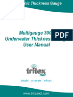Multigauge 3000 Underwater Thickness Gauge User Manual