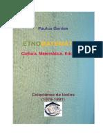 Etnomatemática Cultura Matemática Educação Colectânea de Textos 1979 1991 eBook